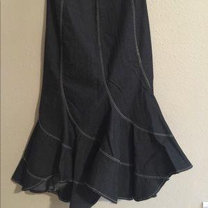 Dresses & Skirts - GORGEOUS JEAN SKIRT - Mermaid effect